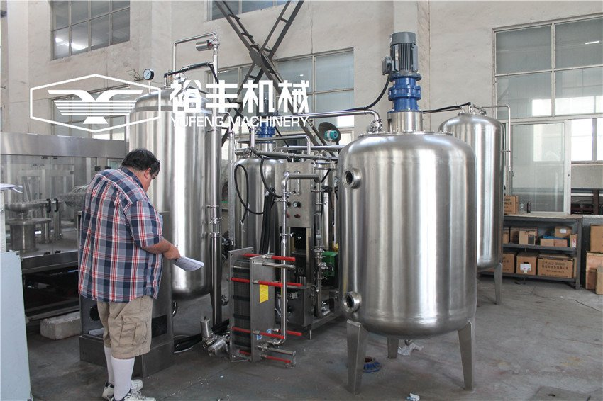 6 Tank Automatic carboanted Drink Production Line